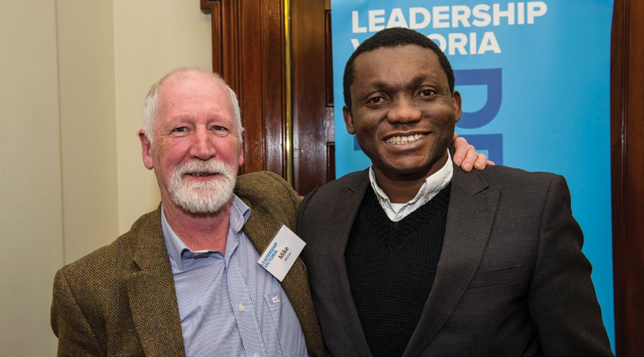 Mike McCaw (LV Mentor) and Constantine Oscuchukwa (NECLP 2016 graduate)